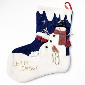 NWOT Snowman Christmas Stocking Fireplace Mantle